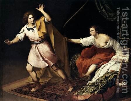 Joseph and Potiphar's Wife 1640-45 by Bartolome Esteban Murillo - Reproduction Oil Painting