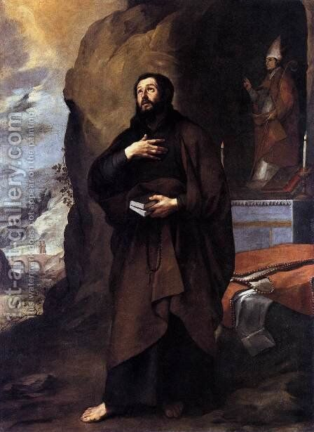 St Lesmes c. 1655 by Bartolome Esteban Murillo - Reproduction Oil Painting