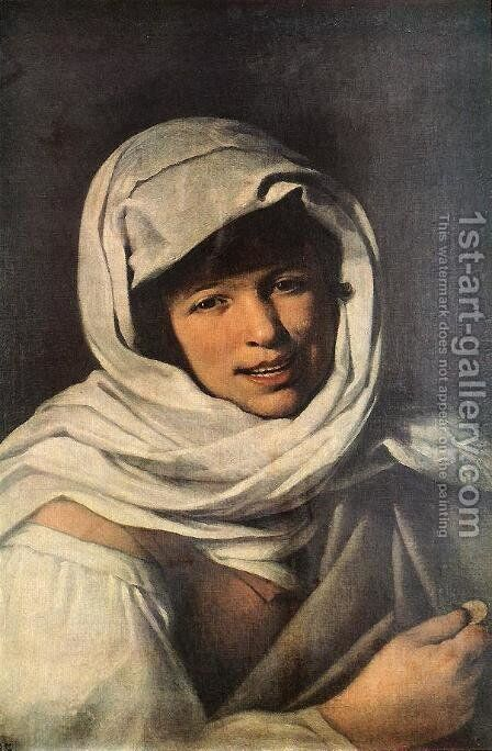 The Girl with a Coin (Girl of Galicia) 1645-50 by Bartolome Esteban Murillo - Reproduction Oil Painting