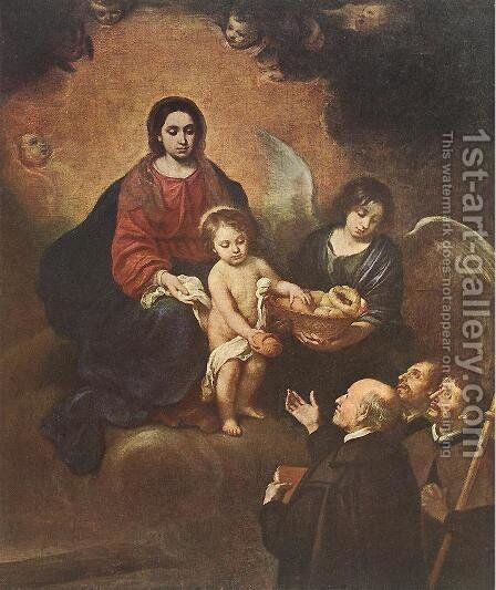The Infant Jesus Distributing Bread to Pilgrims 1678 by Bartolome Esteban Murillo - Reproduction Oil Painting