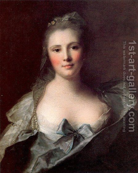 Mademoiselle Marsollier 1757 by Jean-Marc Nattier - Reproduction Oil Painting