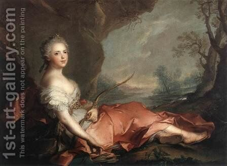 Marie Adelaide of France as Diana 1745 by Jean-Marc Nattier - Reproduction Oil Painting