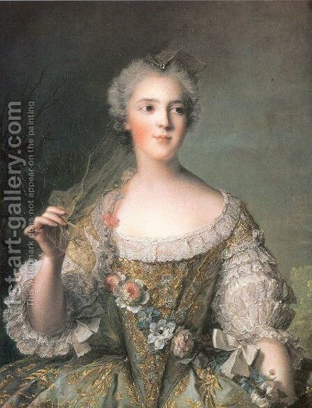 Portrait of Madame Sophie, Daughter of Louis XV by Jean-Marc Nattier - Reproduction Oil Painting