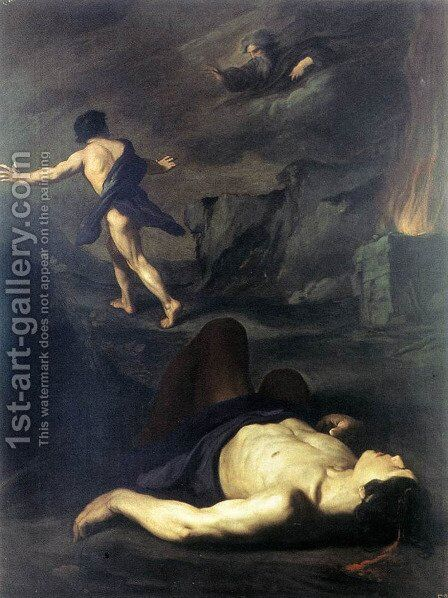 Cain and Abel by Pietro Novelli - Reproduction Oil Painting