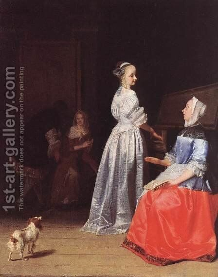 Rehearsing the Song by Jacob Ochtervelt - Reproduction Oil Painting