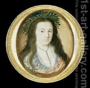 A Lady in Masque Costume c. 1610 by Isaac Oliver - Reproduction Oil Painting