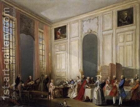 Afternoon Tea at the Temple 1766 by Michel-Barthelemy Ollivier - Reproduction Oil Painting