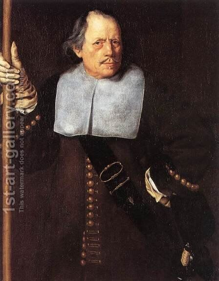 Portrait of Fovin de Hasque by Jacob van, the Elder Oost - Reproduction Oil Painting