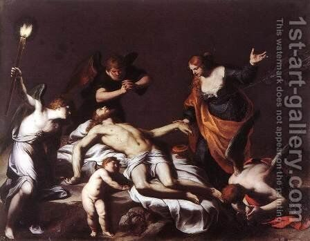 The Lamentation over the Dead Christ 1617 by Alessandro Turchi (Orbetto) - Reproduction Oil Painting