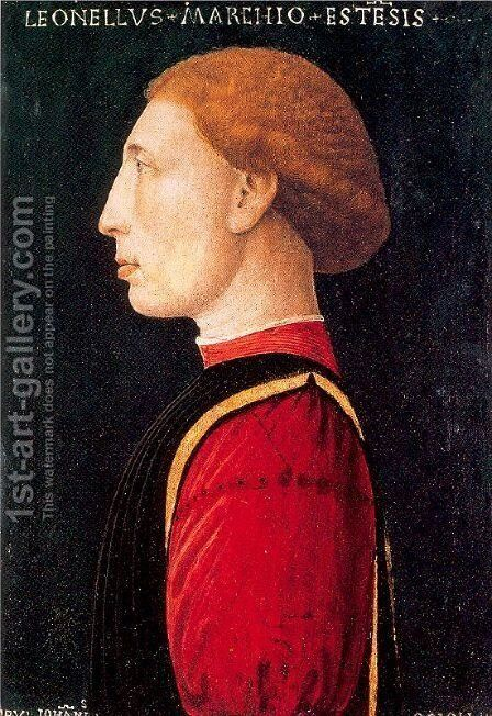 Portrait of Lionello d'Este 1447 by Giovanni da Oriolo - Reproduction Oil Painting