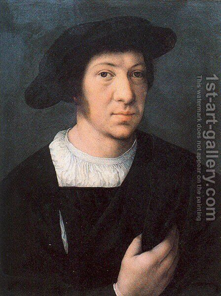 Portrait of a Man by Bernaert van Orley - Reproduction Oil Painting