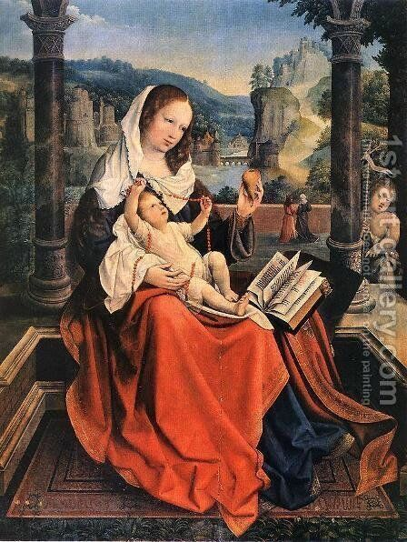 Virgin and Child c. 1515 by Bernaert van Orley - Reproduction Oil Painting