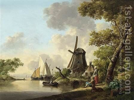 Summer Landscape by Jan van Os - Reproduction Oil Painting