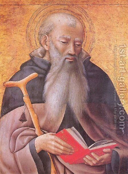 Saint Anthony Abbot 1425 by Master of the Osservanza - Reproduction Oil Painting