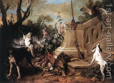 Dead Roe 1721 by Jean-Baptiste Oudry - Reproduction Oil Painting