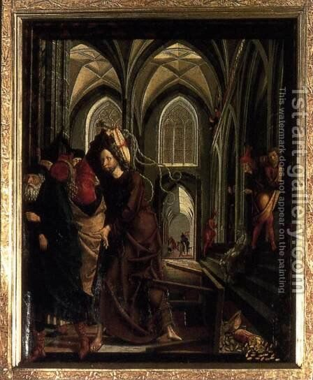 St Wolfgang Altarpiece- Purification of the Temple (2) 1479-81 by Michael Pacher - Reproduction Oil Painting