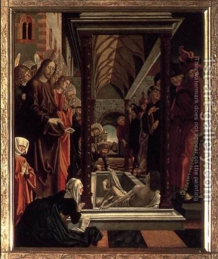 St Wolfgang Altarpiece- Resurrection of Lazar 1479-81 by Michael Pacher - Reproduction Oil Painting