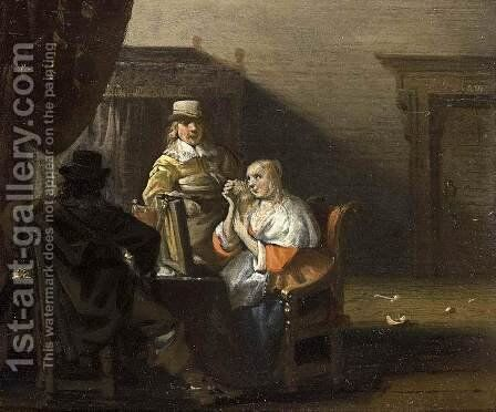 Brothel Scene by Anthonie Palamedesz. (Stevaerts, Stevens) - Reproduction Oil Painting