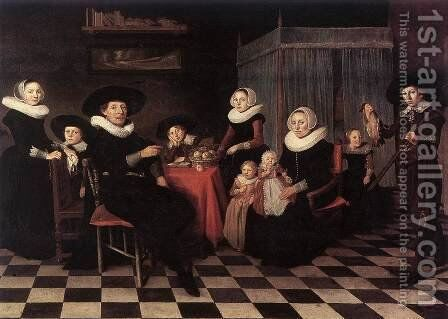 Family Portrait 1635 by Anthonie Palamedesz. (Stevaerts, Stevens) - Reproduction Oil Painting