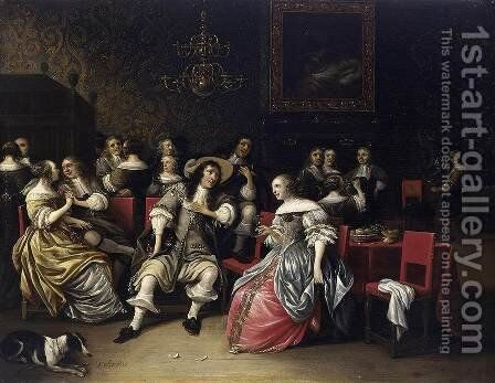 Musical Company 1660s by Anthonie Palamedesz. (Stevaerts, Stevens) - Reproduction Oil Painting