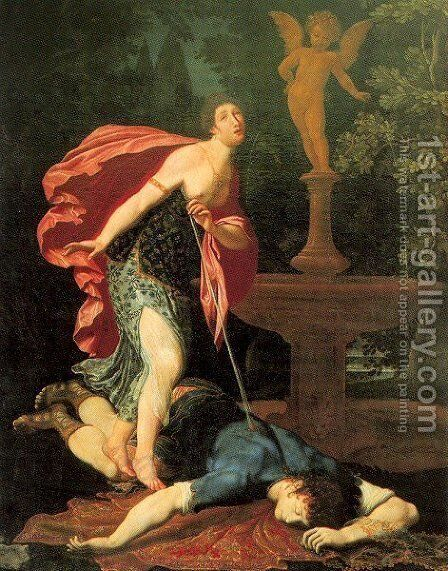 Pyramus and Thisbe by Gregorio Pagani - Reproduction Oil Painting