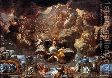 Assumption of the Virgin 1695-96 by Acislo Antonio Palomino - Reproduction Oil Painting