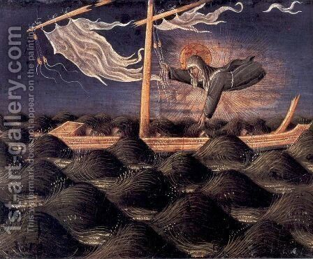 St. Clare Rescuing the Shipwrecked 1455-60 by Giovanni di Paolo - Reproduction Oil Painting