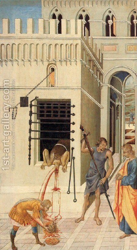 The Beheading of St. John the Baptist 1455-60 by Giovanni di Paolo - Reproduction Oil Painting