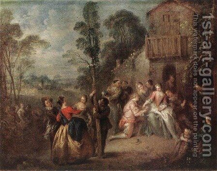 The May Tree by Jean-Baptiste Joseph Pater - Reproduction Oil Painting