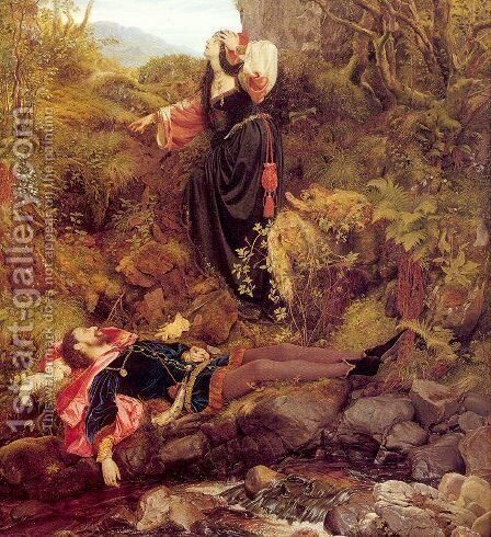 The Bluidie Tryst 1855 by Sir Joseph Noel Paton - Reproduction Oil Painting