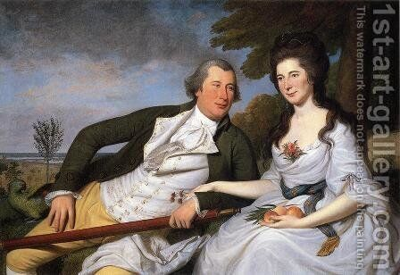 Benjamin and Eleanor Ridgely Laming  1788 by Charles Willson Peale - Reproduction Oil Painting