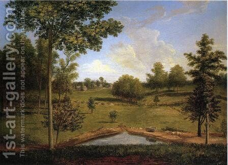 Landscape Looking Towards Sellers Hall from Mill Bank  1818 by Charles Willson Peale - Reproduction Oil Painting