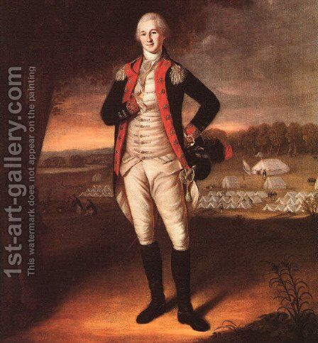 Portrait of Walter Stewart  1781 by Charles Willson Peale - Reproduction Oil Painting