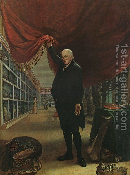 The Artist in his Museum  1822 by Charles Willson Peale - Reproduction Oil Painting