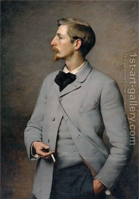 Paul Wayland Bartlett by Charles Sprague Pearce - Reproduction Oil Painting