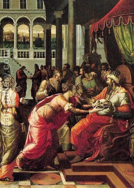 The Justice of Othon by Giovanni Francesco Penni - Reproduction Oil Painting