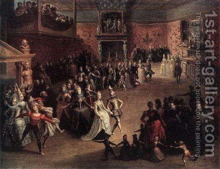 The Ball at the Court 1604 by Marten Pepijn - Reproduction Oil Painting