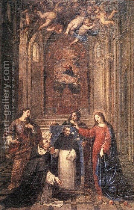 St Dominic by Antonio de Pereda - Reproduction Oil Painting