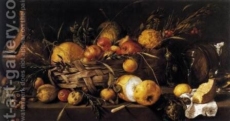 Still-Life with Fruit 1650 by Antonio de Pereda - Reproduction Oil Painting