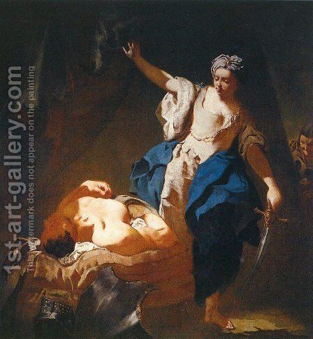 Judith and Holofernes 1745 by Giovanni Battista Piazzetta - Reproduction Oil Painting