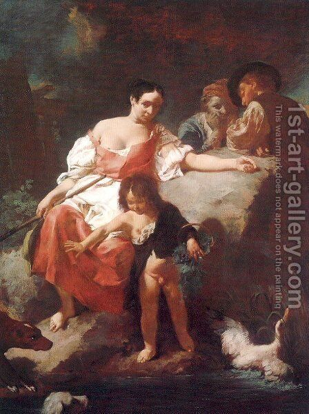 Pastoral Scene 1740 by Giovanni Battista Piazzetta - Reproduction Oil Painting