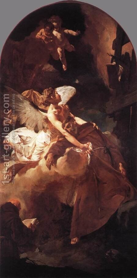 The Ecstasy of St Francis 1729 by Giovanni Battista Piazzetta - Reproduction Oil Painting
