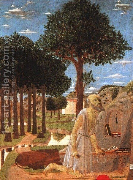 The Penance of St. Jerome 1450 by Piero della Francesca - Reproduction Oil Painting