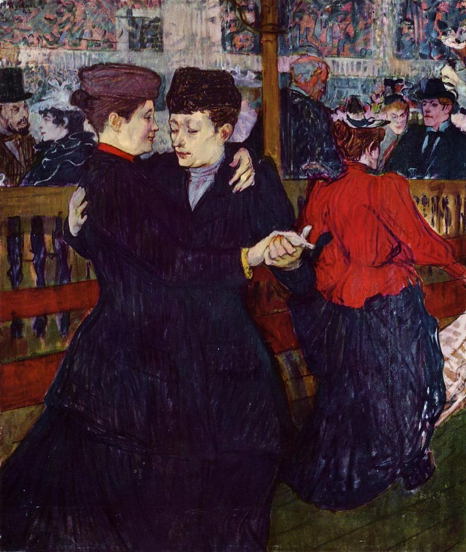 Henri De Toulouse-Lautrec, At the Moulin Rouge: the Two Waltzers, 1892