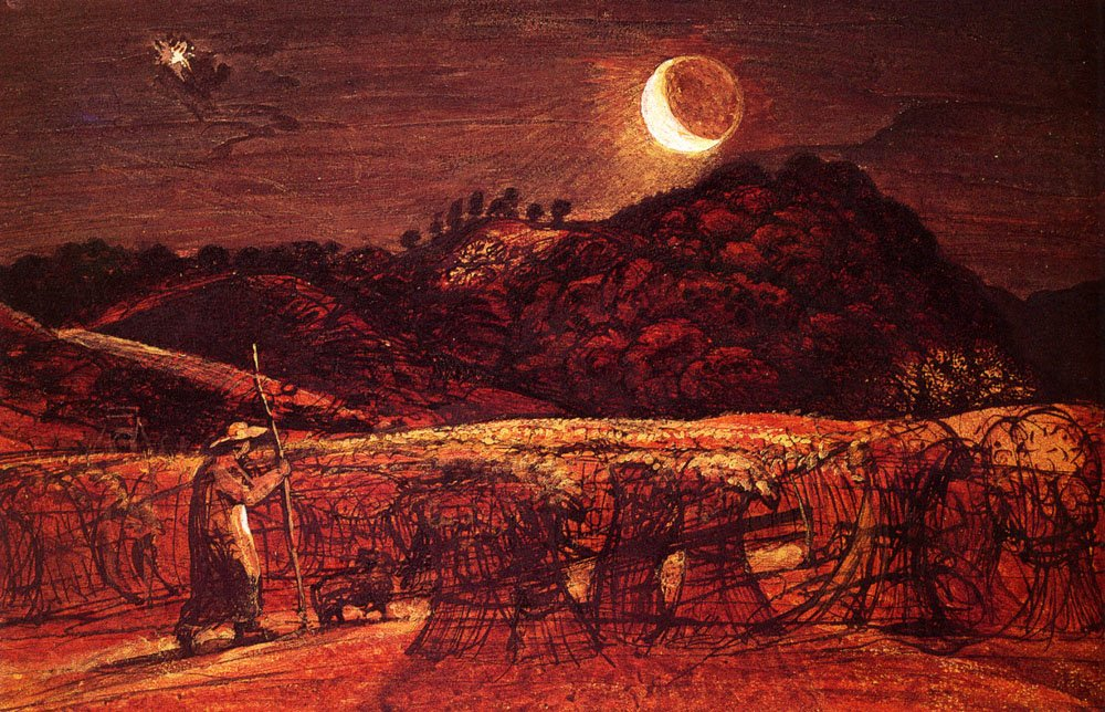 Samuel Palmer, Cornfield by Moonlight, 1830