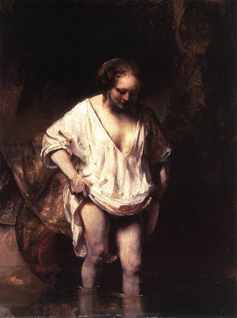 Rembrandt Van Rijn, Hendrickje Bathing in a River 1654