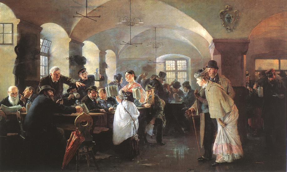 Fulop Elek Laszlo, In the Hofbrauhaus in Munich 1892