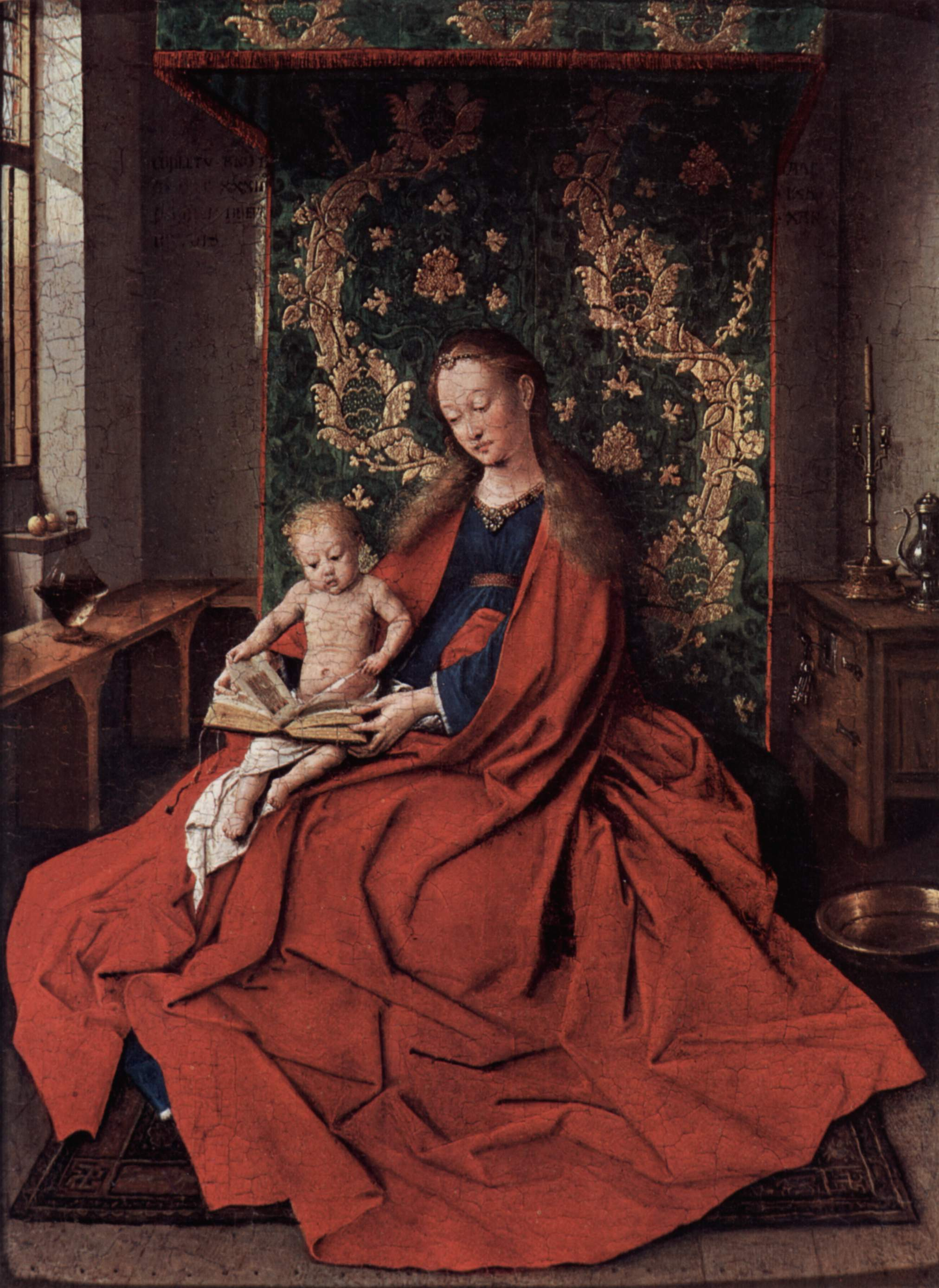 Jan Van Eyck, Madonna with the Child Reading, 1433