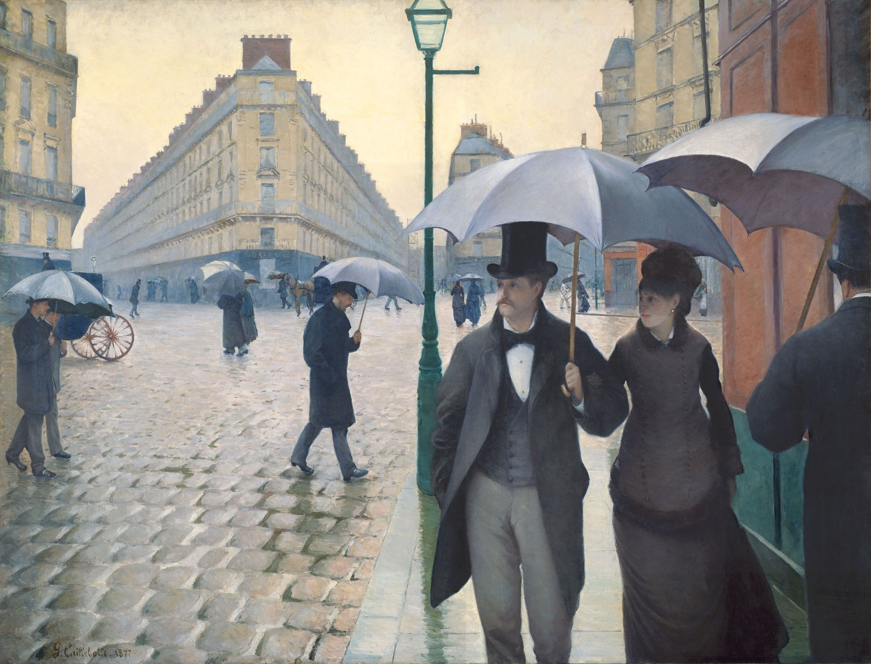 Gustave Caillebotte, Paris Street- Rainy Weather 1877