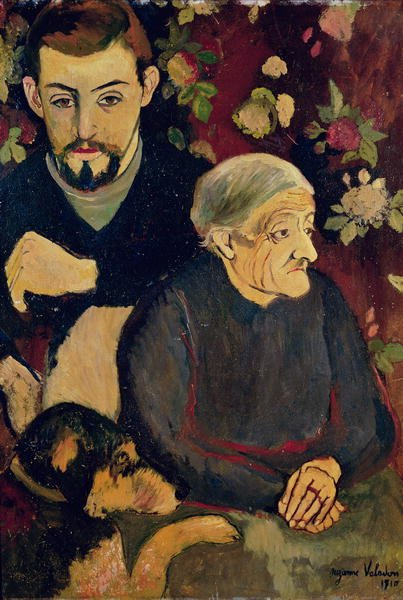 Suzanne Valadon, Portrait of Maurice Utrillo (1883-1955), his Grandmother and his Dog, 1910